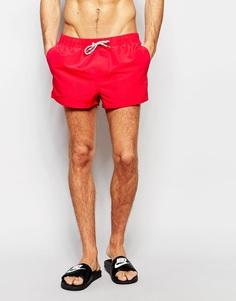 Красные сверхкороткие шорты для плавания ASOS - Красный