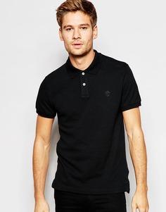 Приталенная футболка-поло из ткани пике Esprit - Черный