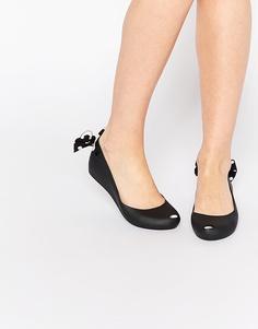Черные туфли на плоской подошве Melissa Ultragirl Minnie Mouse - Черный