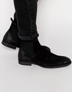 Замшевые ботинки челси Selected Homme Melvin - Черный