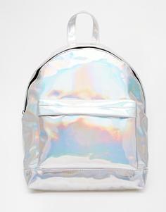 Рюкзак с голографическим эффектом ASOS - Серебряный