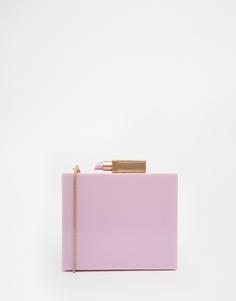 Сумка из плексигласа с губной помадой Lulu Guinness - Светло-пурпурный