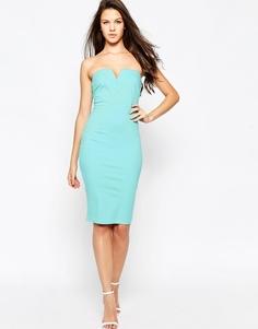 Платье-футляр бандо AX Paris - Aqua