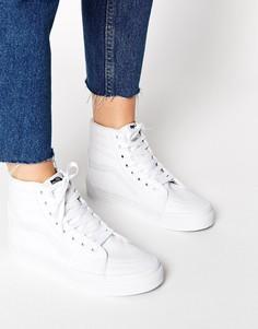 Высокие белые кроссовки Vans SK8 - Классический белый
