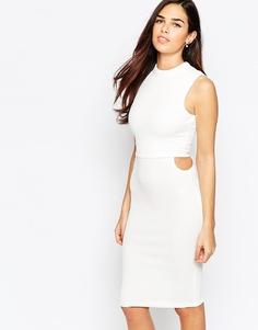 Платье с вырезами по бокам AX Paris - Кремовый