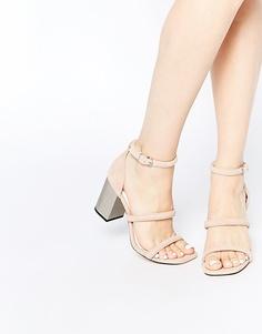 Замшевые сандалии на блочном каблуке Senso Robbie V Blush - Телесный