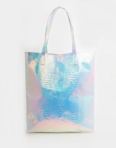 Пляжная сумка‑шоппер с голографическим эффектом Jaded London - Мульти Asos