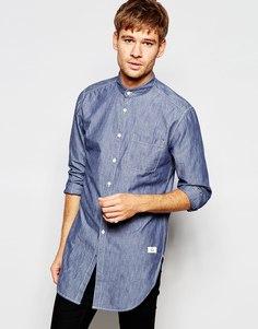 Длинная рубашка с воротником на пуговицах Esprit - Шамбре