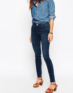 Темные джинсы скинни с классической талией ASOS Lisbon - Темно-синий