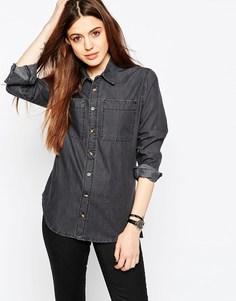 Черная выбеленная джинсовая рубашка ASOS - Выбеленный черный