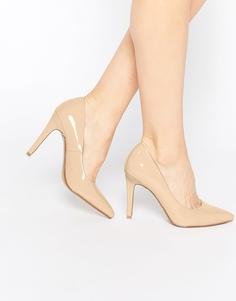 Нюдовые лакированные туфли‑лодочки Head over Heels By Dune Addyson - Телесный
