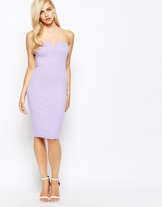 Платье бандо миди AX Paris - Сиреневый