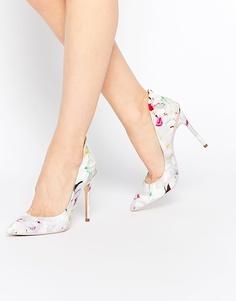 Кожаные туфли-лодочки с цветочным принтом Ted Baker