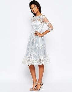 Платье миди с кружевной накладкой Glamorous