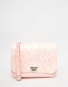 Сумка с принтом The Leather Satchel Company Pixie - Candy floss