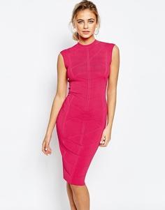 Облегающее жаккардовое трикотажное платье Ted Baker - Фуксия