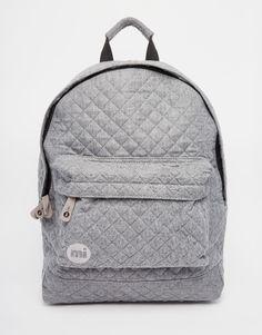 Серый стеганый рюкзак Mi-Pac - Угольный