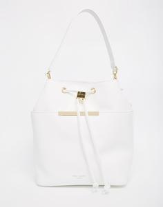 Большая кожаная сумка-торба Ted Baker - Белый