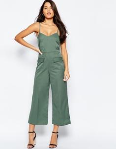 Комбинезон с карманами ASOS Tailored - Зеленый шалфей