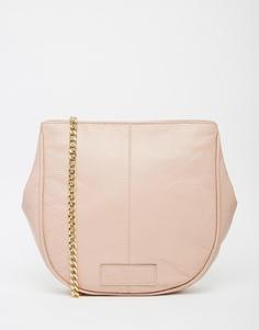 Кожаная сумка в форме полумесяца с ремешком-цепочкой Urbancode - Blush