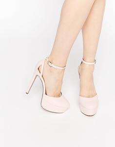 Туфли на платформе ASOS POUT - Бледно-розовый