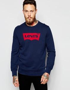 Синий свитшот с круглым вырезом Levi's - Выходной синий Levi's®