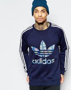 Свитшот с логотипом adidas Originals AJ6970 - Синий
