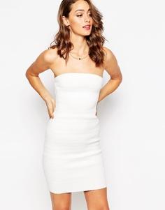 Облегающее платье-бандо Sistaglam Kim - Белый