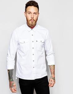 Белая джинсовая рубашка с 2 карманами Levi's Line 8Trucker - Стойкий белый