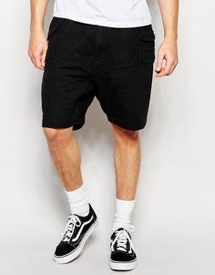 Выбеленные черные шорты слим ASOS - Выбеленный черный