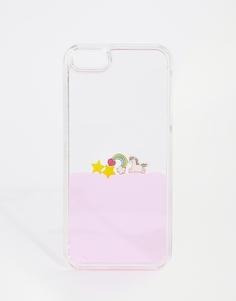 Чехол для iPhone 5/5s с единорогом и блестками Skinnydip - Мульти