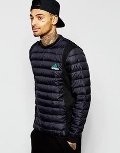 Стеганый свитшот adidas Originals Equipment AJ7339 - Черный