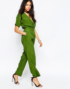 Комбинезон в стиле милитари Motel - Зеленый мох