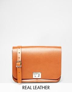 Светло-коричневая сумка через плечо The Leather Satchel Company - Рыжий