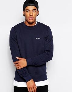 Свитшот с вышитым логотипом-галочкой Nike 611467-473 - Синий