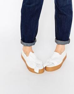 Кроссовки с бантиком ASOS DOLLY - Белый