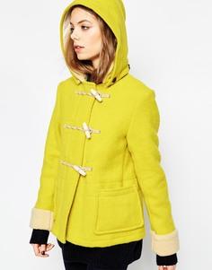 Короткий дафлкот со съемным капюшоном Gloverall - Желтый