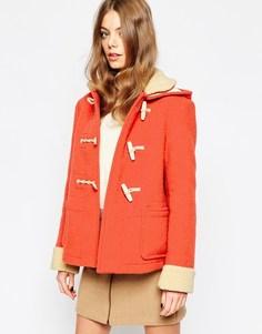 Короткий дафлкот со съемным капюшоном Gloverall - Оранжевый
