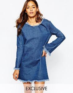 Джинсовое платье-футболка Liquor & Poker - Синий