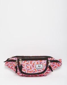 Сумка-кошелек на пояс с цветочным принтом Hype - Розовый
