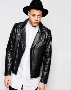 Байкерская куртка прямого кроя Barney's - Черный