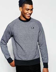 Свитшот с логотипом-прямоугольником Nike 727393-010 - Черный