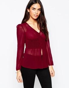 Блузка в стиле 70-х ASOS Premium - Красный