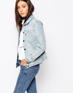 Мраморная джинсовая куртка бойфренда Levi's Line 8 - Синий Levi's®