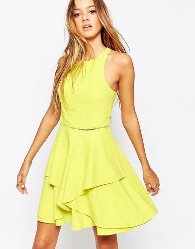 Короткое приталенное платье Adelyn Rae - Желтый