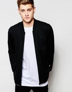 Куртка на молнии со вставкой из искусственной замши Jack & Jones - Черный