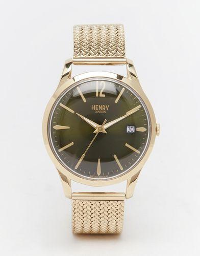 Часы из нержавеющей стали Henry London Chiswick - Золотой