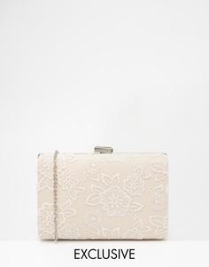 Клатч с кружевной накладкой Chi Chi London - Белый