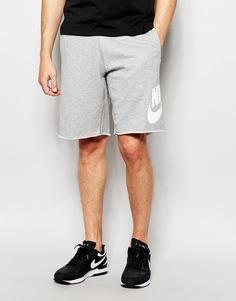 Шорты с большим логотипом Nike 678568-063 - Серый