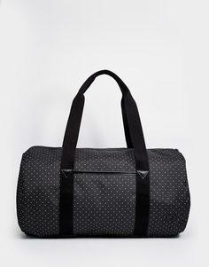 Парусиновая сумка в горошек Fred Perry - Черный